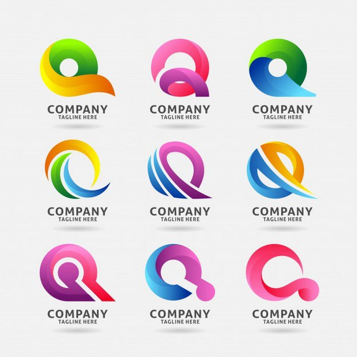 Collection of Letter q Modern Logo Design