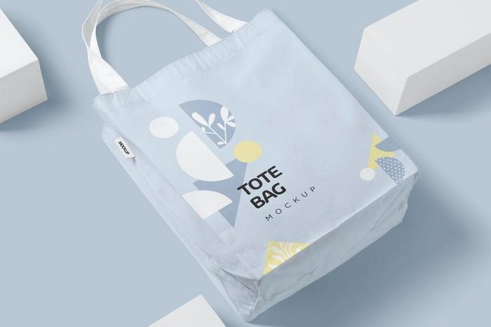 Corporate Cotton Tote Bag Mockups
