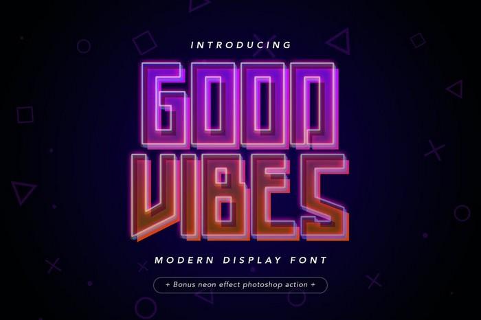 Good Vibes - Modern Neon Display Font