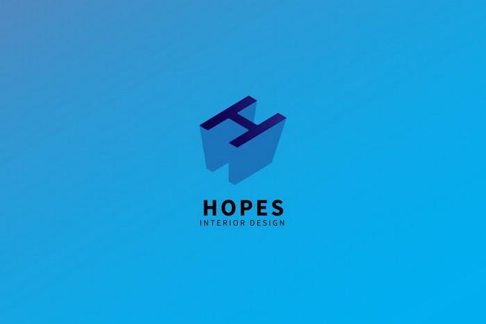 Hopes - Interior Design Logo