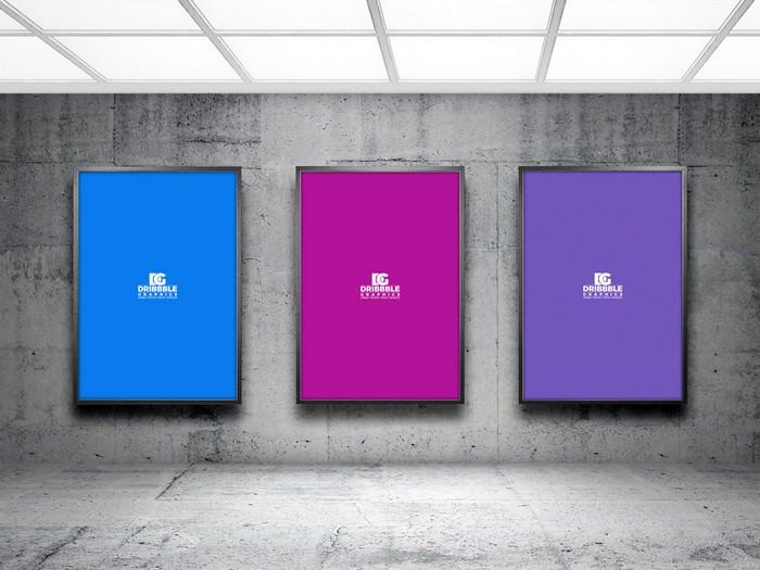 Indoor Advertising Poster Billboard Mock-up