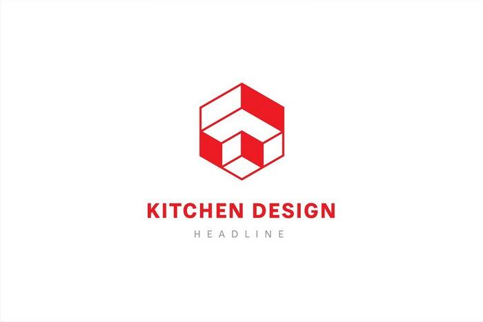 Kitchen Design Logo Template