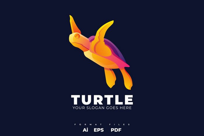 Modern Turtle Logo Template