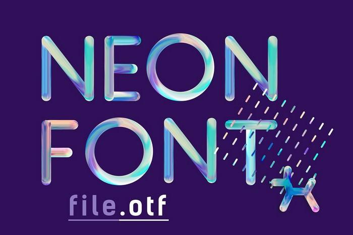 NEON FONT - file otf
