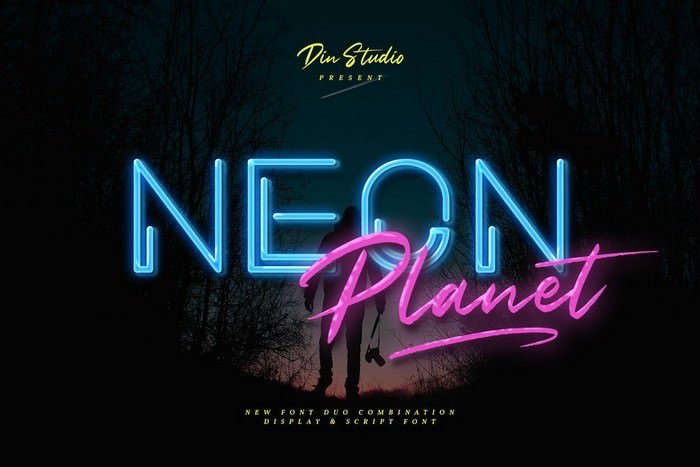 Neon Planet - Display Font Duo