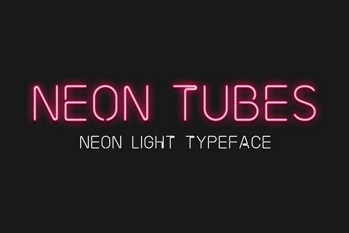 Neon Tubes - Neon Light Font