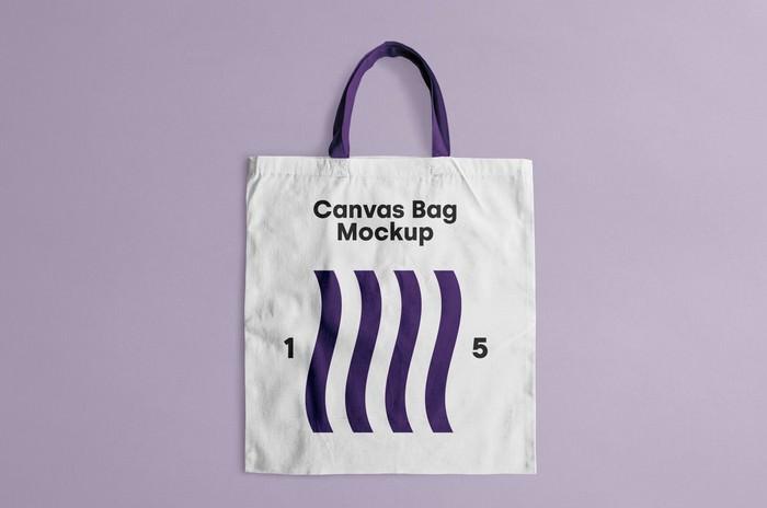 Photo Realistic Canvas Tote Bag Mockup