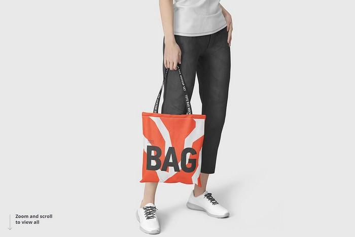 Photorealistic Tote Bag Mockup