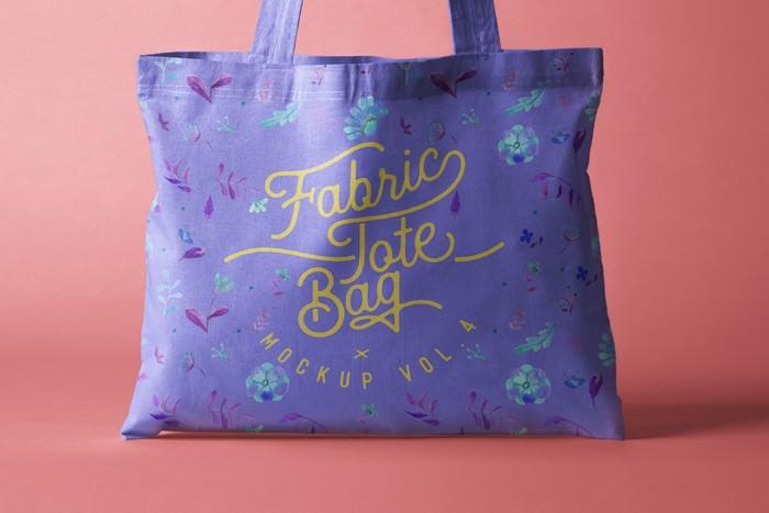 Psd Tote Bag Fabric Mockup Vol4
