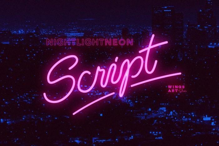 Retro Neon Font - Script Style