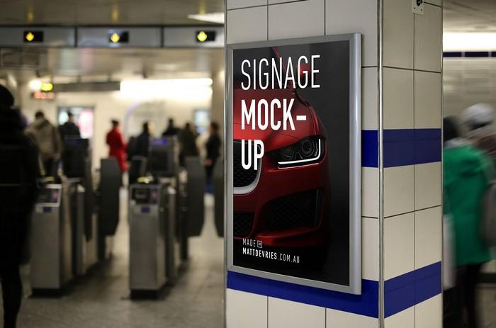 Smart Advertising Signage PSD