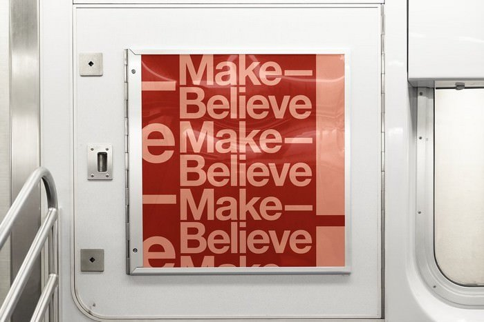 Square Subway Train Ad Mockup