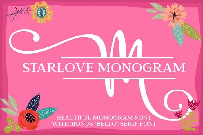 Starlove Monogram Font