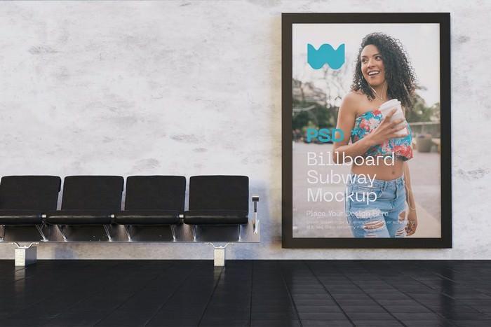 Subway Advertisements Mockup
