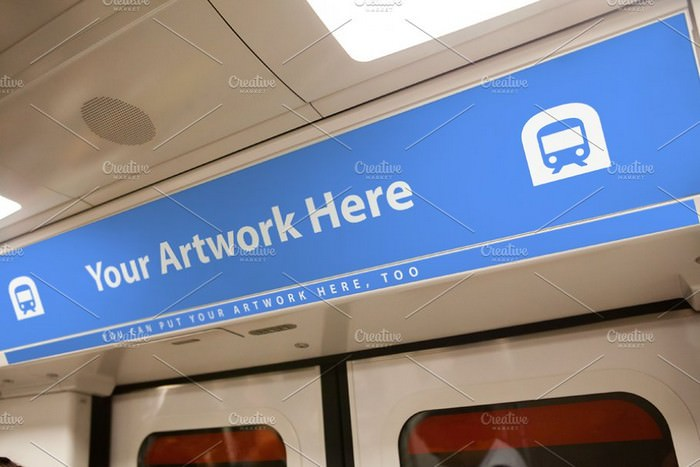 Subway Metro Advertising PSD Mockup