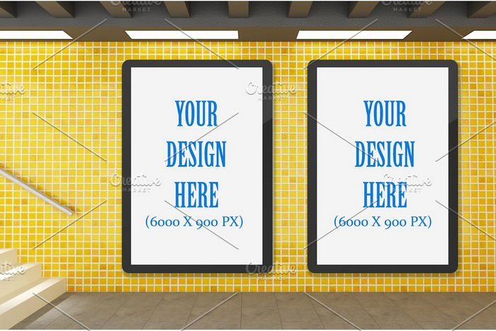 Subway Billboard Advertising Mockup