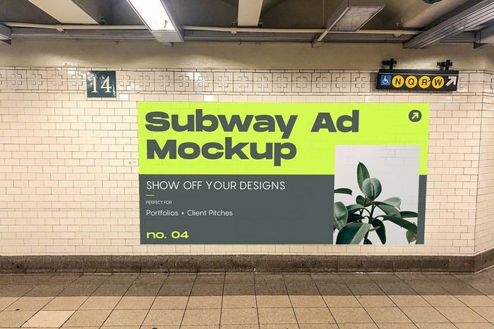 Subway ad 22 Mockups
