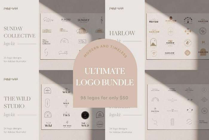 The Ultimate Modern Logo Bundle Kit