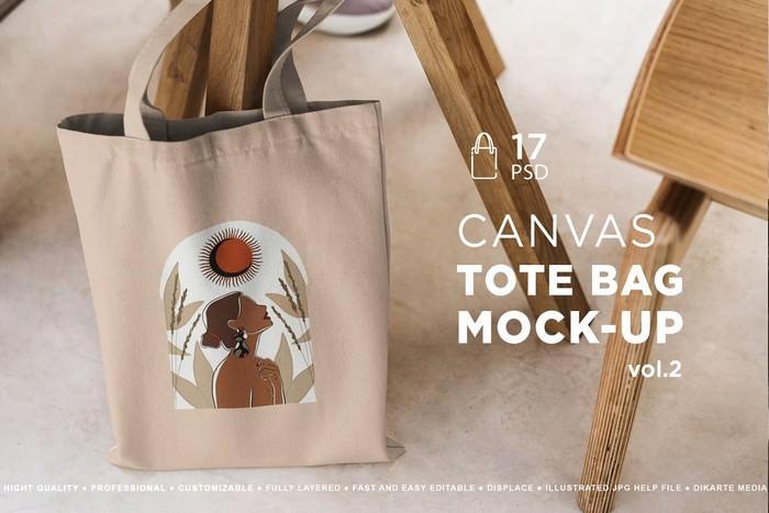 Tote Bag Mock-Up Lifestyle Vol.2