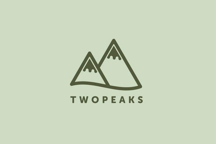 Two Peaks Logo Template