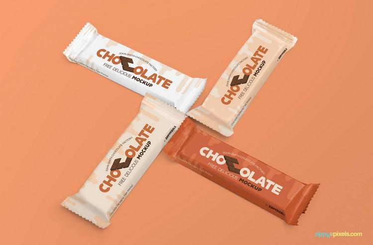 Chocolate Bar Branding Mockup