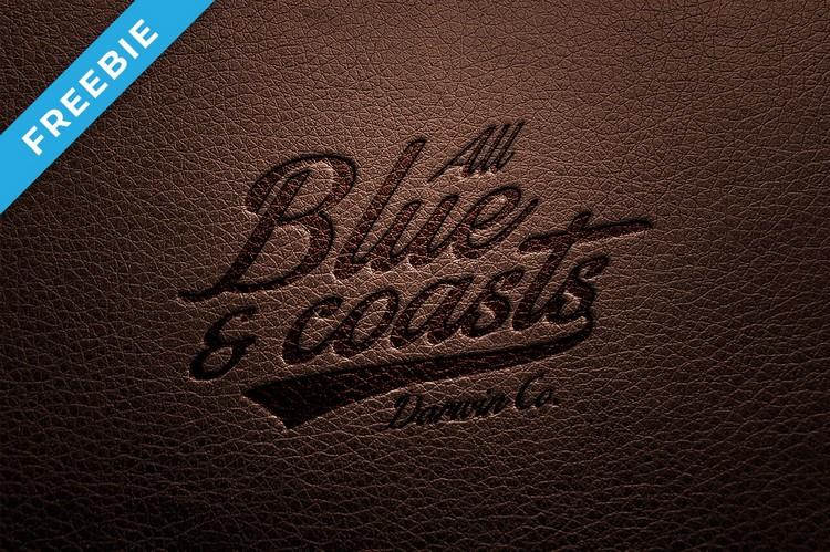 Amazing Leather Pressed Logo Mockup (PSD)