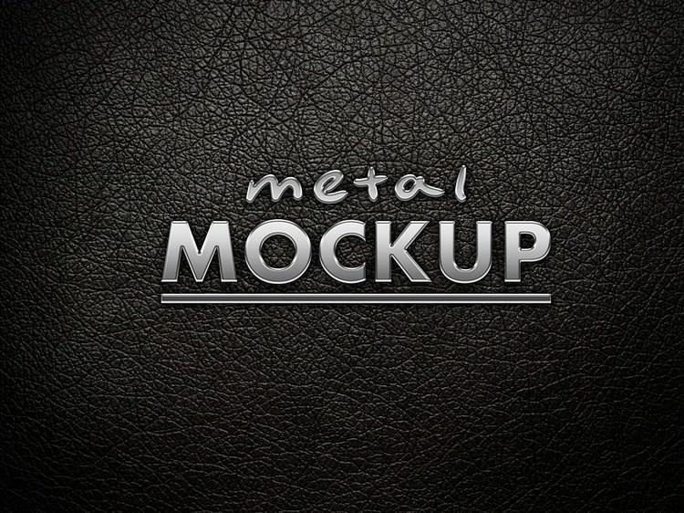 Creative Metal Logo Mockup (PSD) # 2