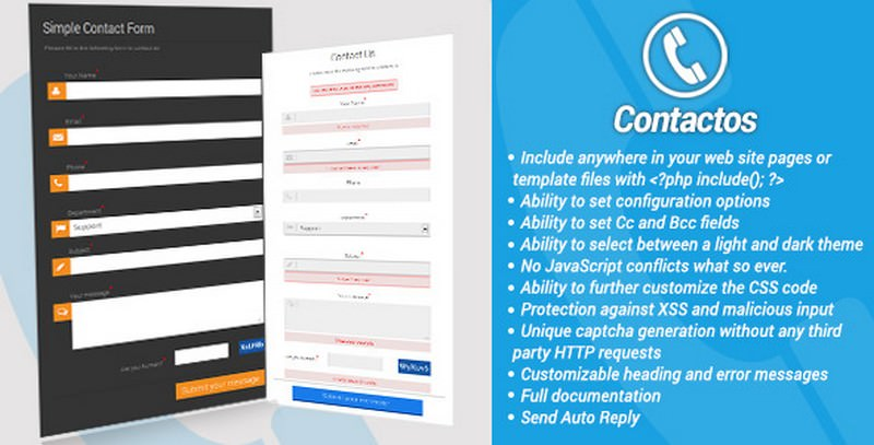 Cross Platform Simple PHP Contact Form