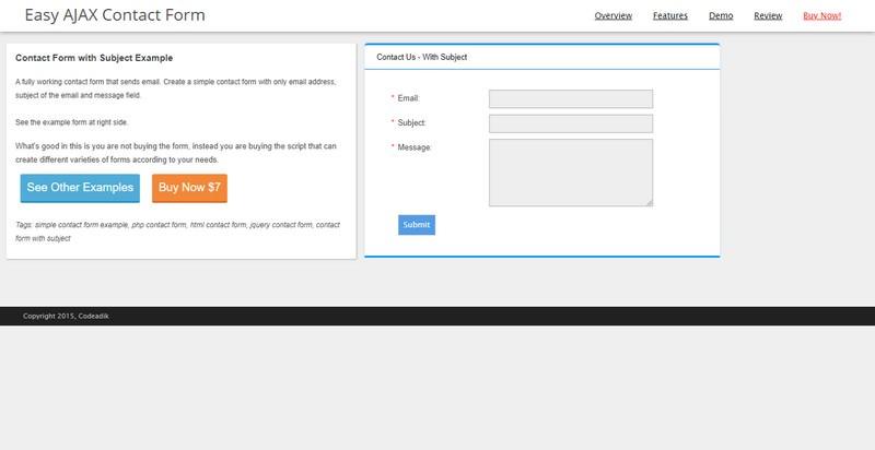 Easy AJAX Contact Form