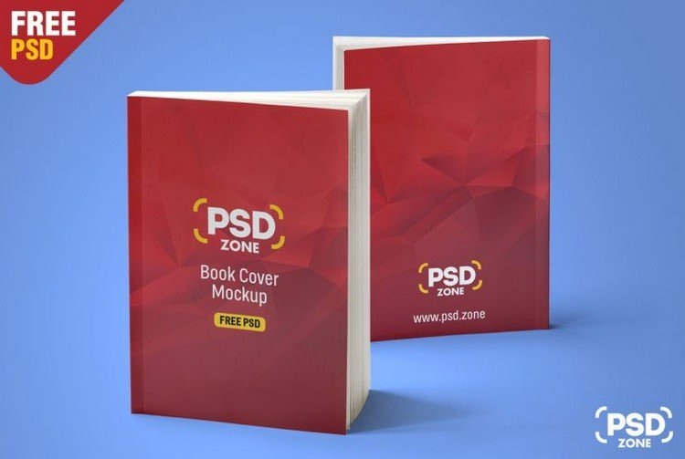 Standing Book Cover PSD Mockup