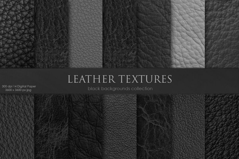 Leather Textures Black Background