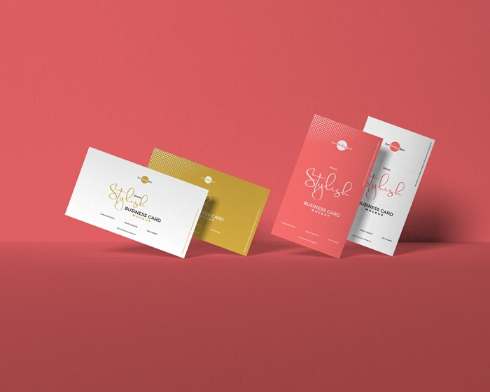 Modern Business Card PSD Mockup For Presentation