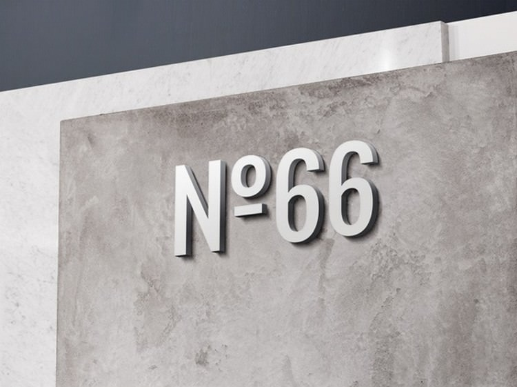 Modern Logo MockUp With 3D Wall Effect