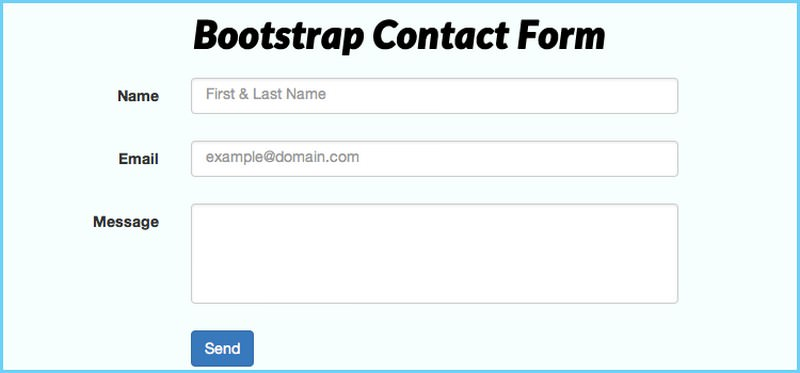 PHP Bootstrap Contact Form