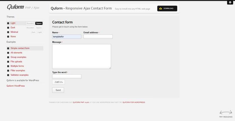 Quform - Responsive Ajax Contact Form