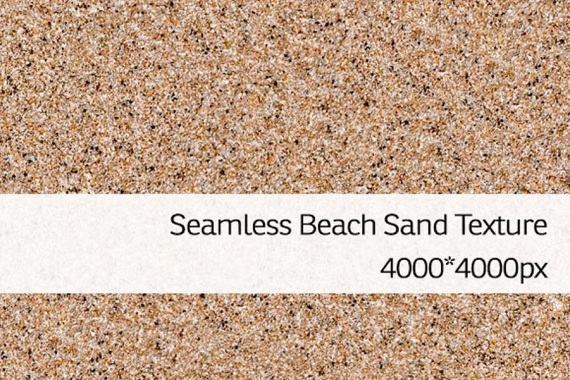 Seamless Beach Sand Texture 4000x4000 px resolution