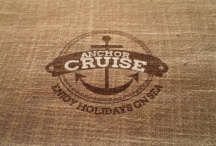 Unique Logo Mockup On Hessian Fabric