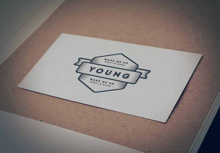 Vintage Style Paper Logo Mockup (PSD)