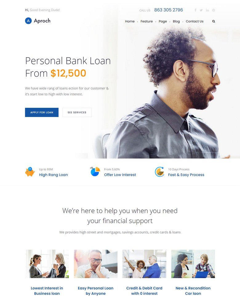 Aproach - Banking & Business Loan Bootstrap-4 HTML Template