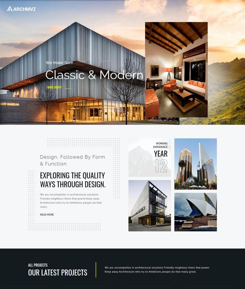 Archmvz - Architecture & Interior Joomla Template