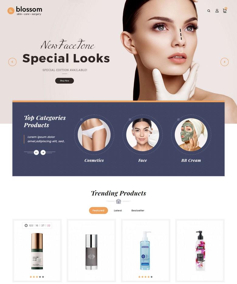 Blossom - Beauty Cosmetics Opencart Theme