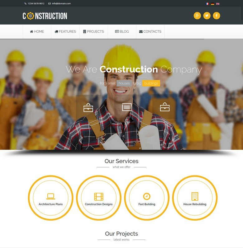 A feature-rich Industrial Joomla Template