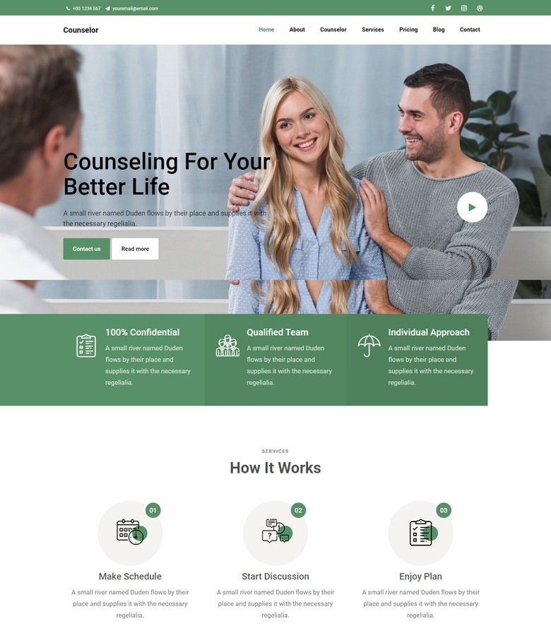 Counselor - Free Bootstrap 4 HTML5 Business Website Template