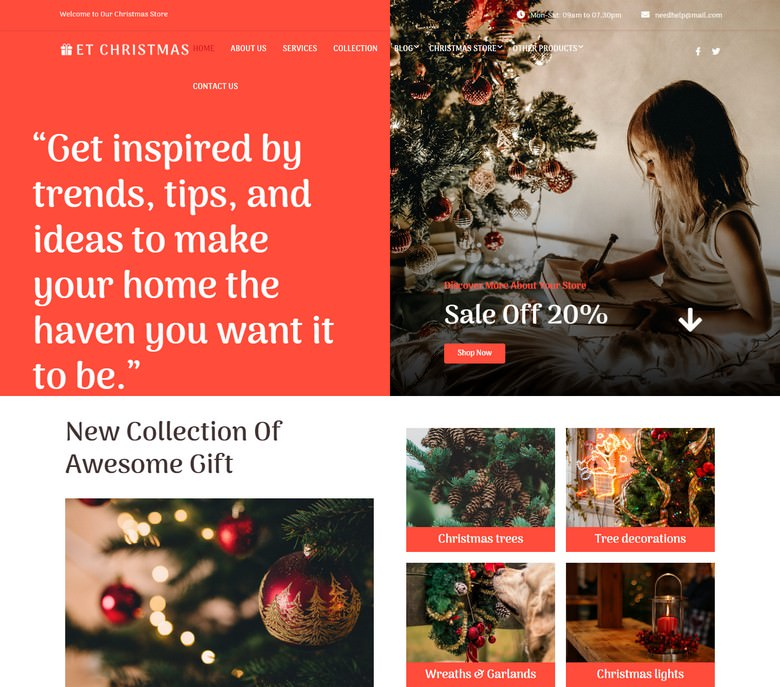 ET Christmas WordPress theme