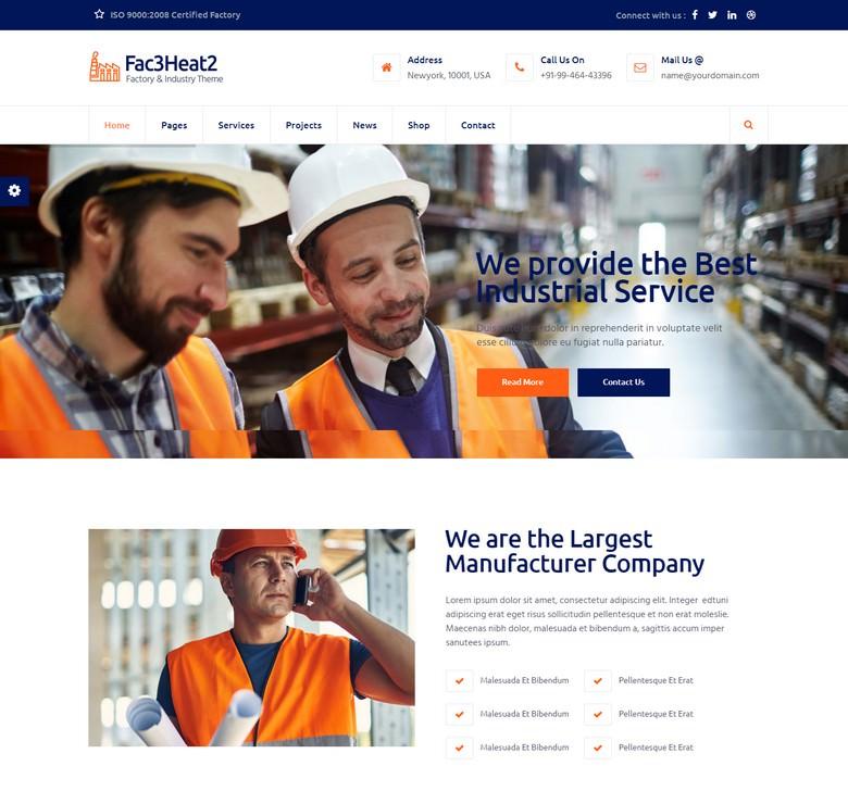 Fac3heat2 – Factory, Industry, Engineering Joomla Template