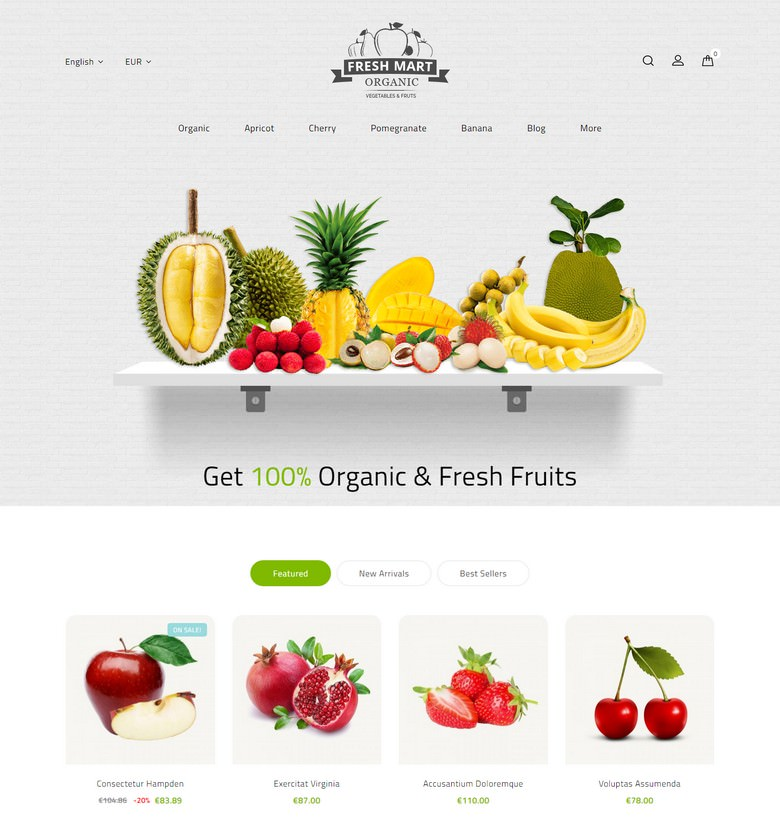Farm Fresh - Super Market Store Template