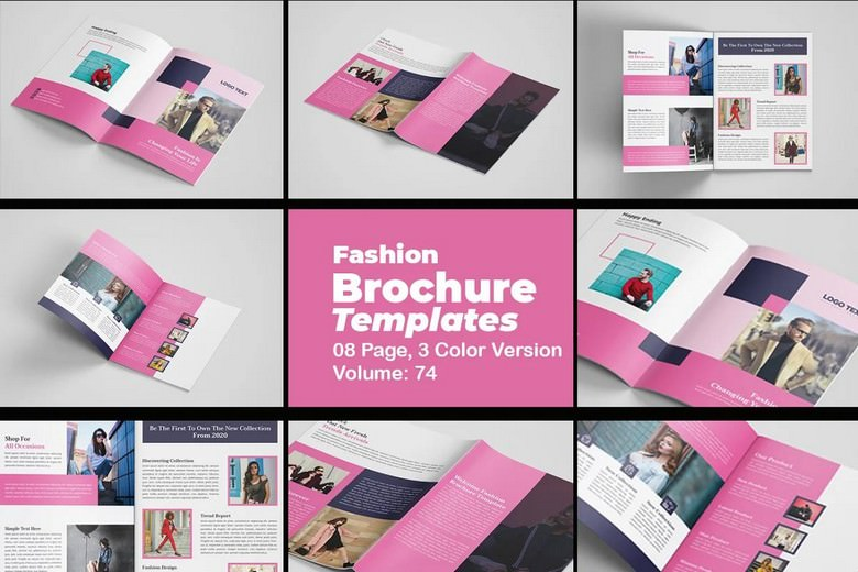 Fashion Brochure Template 3 Fresh Color