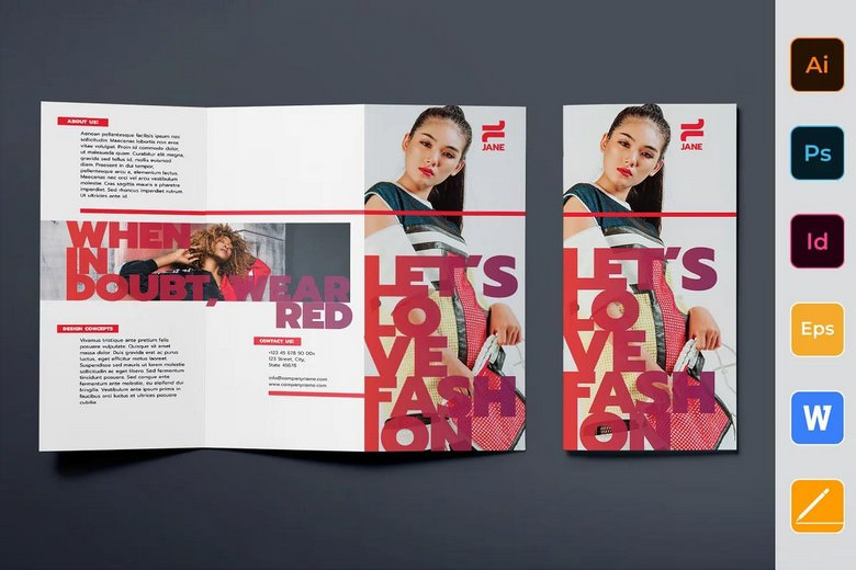Fashion Designer Brochure Trifold