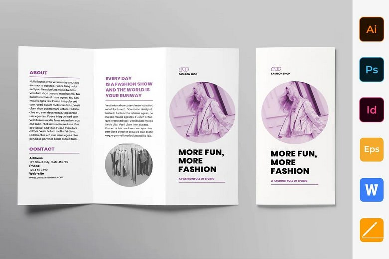 Fashion Shop Brochure Trifold Template