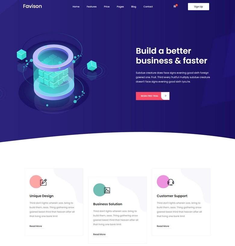 Favison - Free Bootstrap 4 Professional Business Website Template